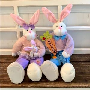 "🐰🐇Adorable & Poseable Bunny Boy & Girl - 26""🦋🌷"